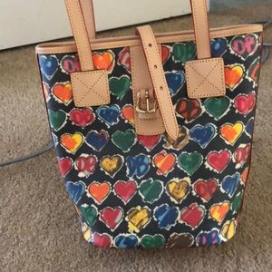 Authentic Dooney&Bourke colorful Heart Sidebag